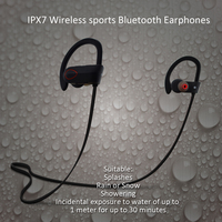 Sport Style IPX7 Waterproof Bluetooth Earbuds, Wireless Earplug Headphones RU9