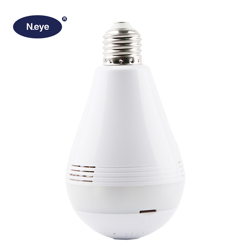960P 1080p wifi fisheye ip camera surveillance <strong>bulb</strong> camera with movement sensor