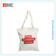 Wholesale organic nature cotton custom printed tote canvas bag