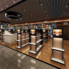cosmetic shop counter design with Commercial Furniture for display racks