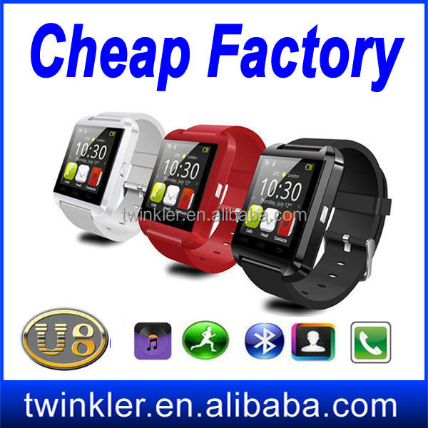 new fashion smartwatch U8 Bluetooth Smart watch U8 WristWatches U Watch Android Phone Smartphones+anti-lost U8 bluetooth phone