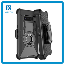 [kayoh]For Samsung phone case 3 in 1 Rugged Armor With Ring Holder Case for note 8