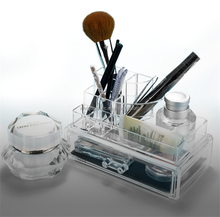 2017 New Design Hot Sale Home Beauty Clear Display Case Cosmetic Acrylic Makeup Organizer