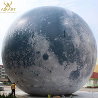 outdoor giant Inflatable globe ball led moon light balls