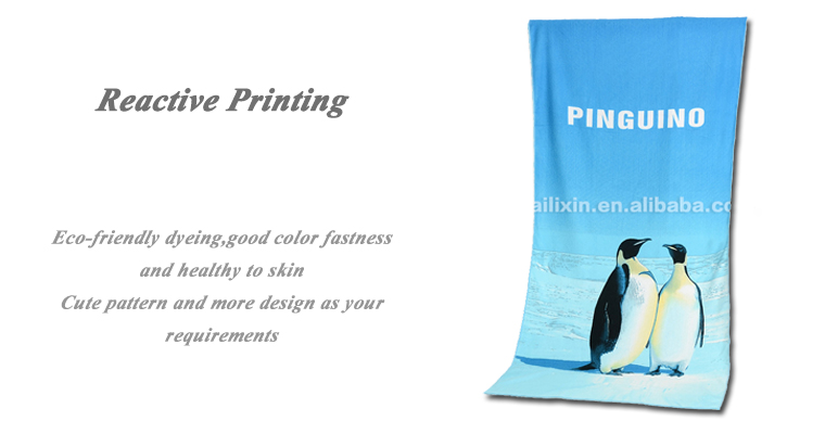 China wholesale velour printed microfiber beach towels for kids