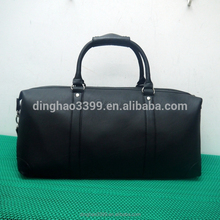 2016 high quality travel bag black leather duffle bag luxury men tote bag