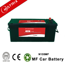 Popular models lower price good quality 12v 135 AH N135 MF Storage battery Auto battery