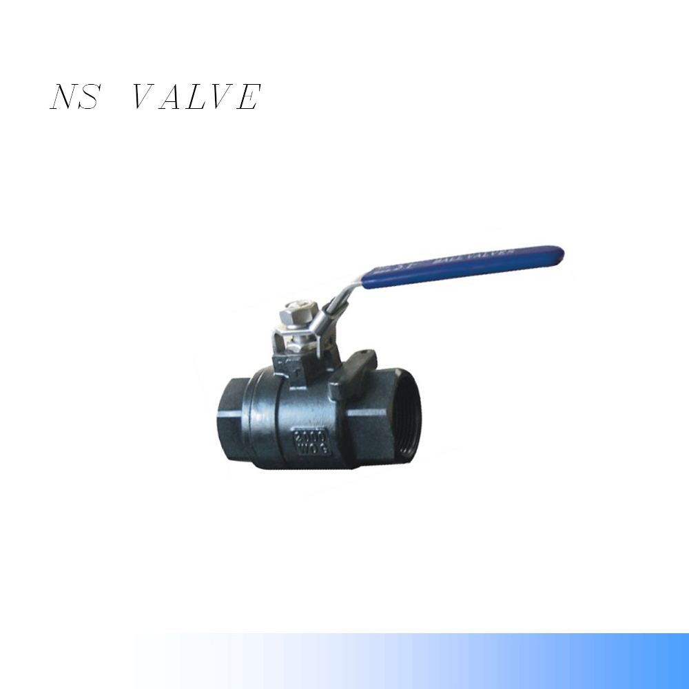 WCB Two -piece ball valve (2P)2000WOG Screw NPT