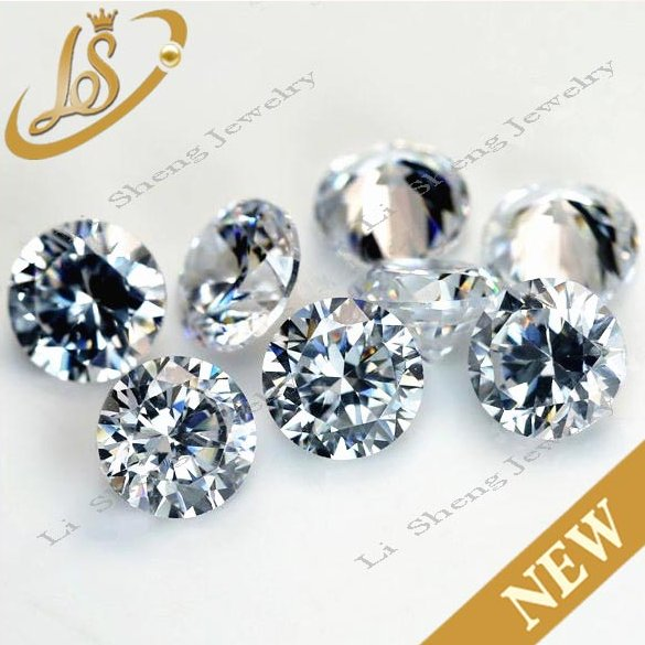 1.25mm cubic zirconia star cut white round artificial stone