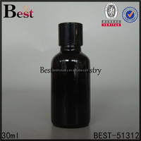 Essential Oils -hot sale Glass Bottle Refillable black Slim body /Cap Black shinny Essential Oil 1oz-china alibaba new wholesale