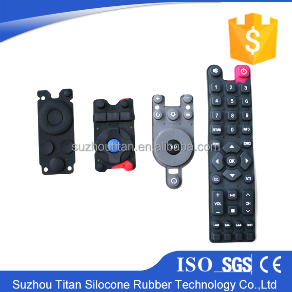 Conductive function silicone rubber keypad