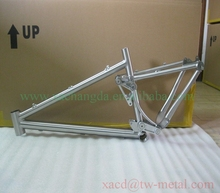 suspension bicycle frame chinese titanium full suspension bike frame xacd made mountain suspension bike frame