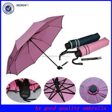 Promotional hot sale cheap flower fold ladies fashion 3 folding umbrella
