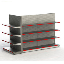 retail store double sided cheap metal pegboard rack merchandise display supermarket gondola <strong>shelf</strong>