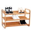 Factory Cheap Wooden Bamboo Shoes Rack