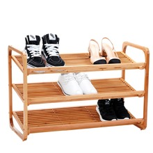 Factory cheap wooden bamboo shoes rack for living room