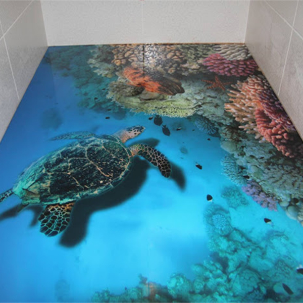 Epoxy Clear Coat 3D Floor Art Coating