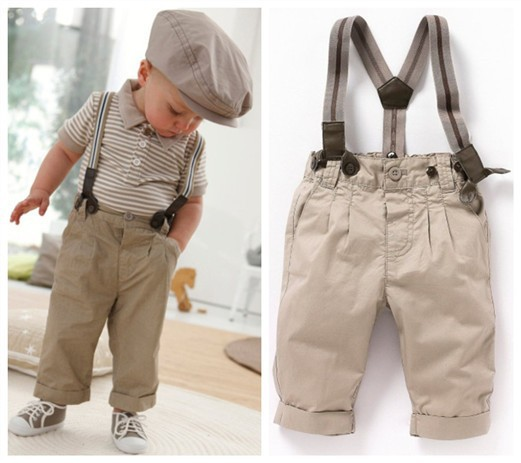 European Designer Double Shoulder Strap-type Baby Boysets Clothes boysetbd-tw