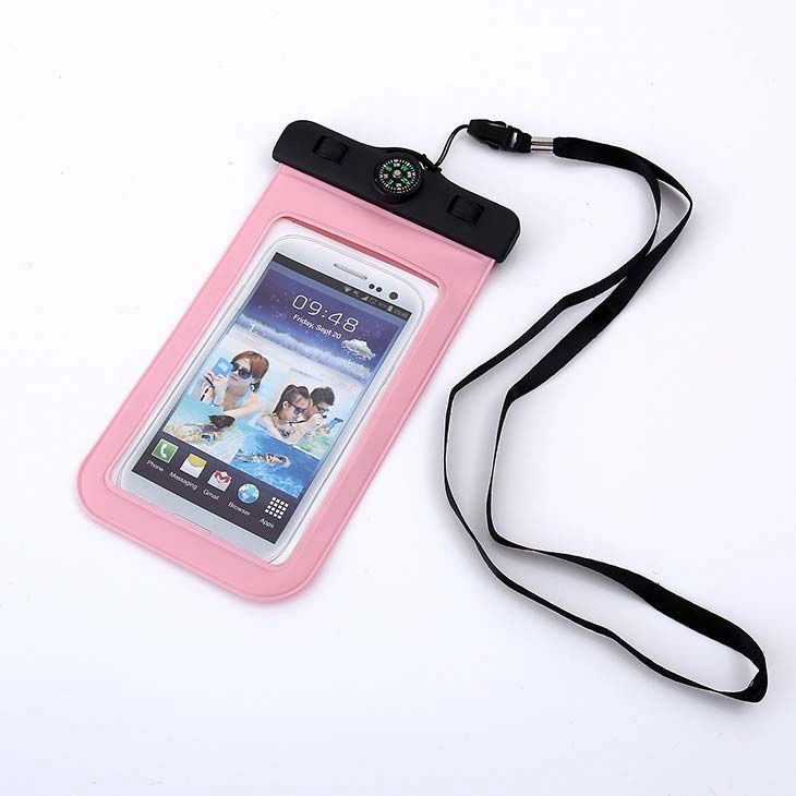 HT049 Camouflage Universal Waterproof Pouch Bag with Compass Armband Neck Strap,cellphone waterproof bag