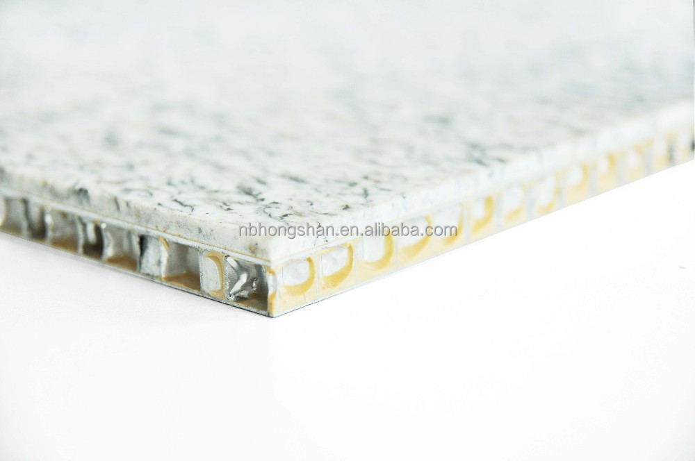 Stone look aluminium honeycomb panel
