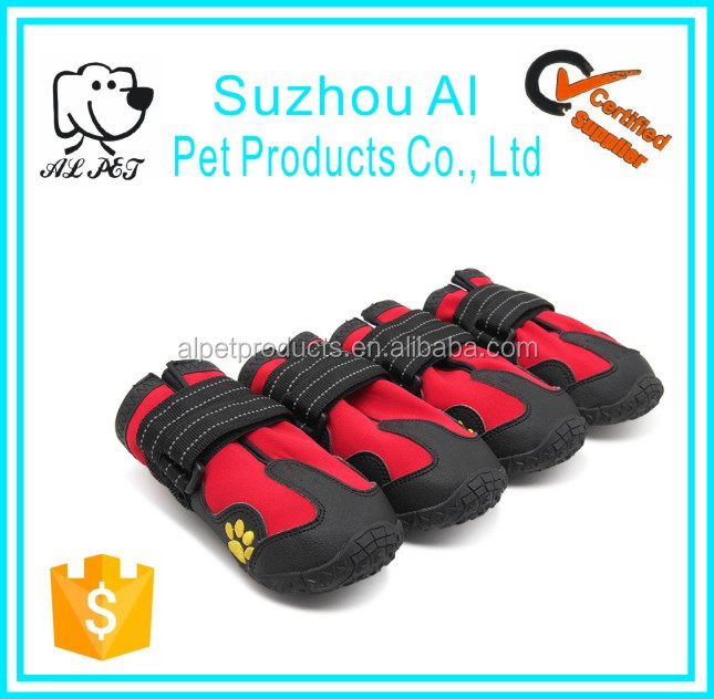 Waterproof Pet Shoes Reflective Velcro and Rugged AntiSlip Sole Dog Boots