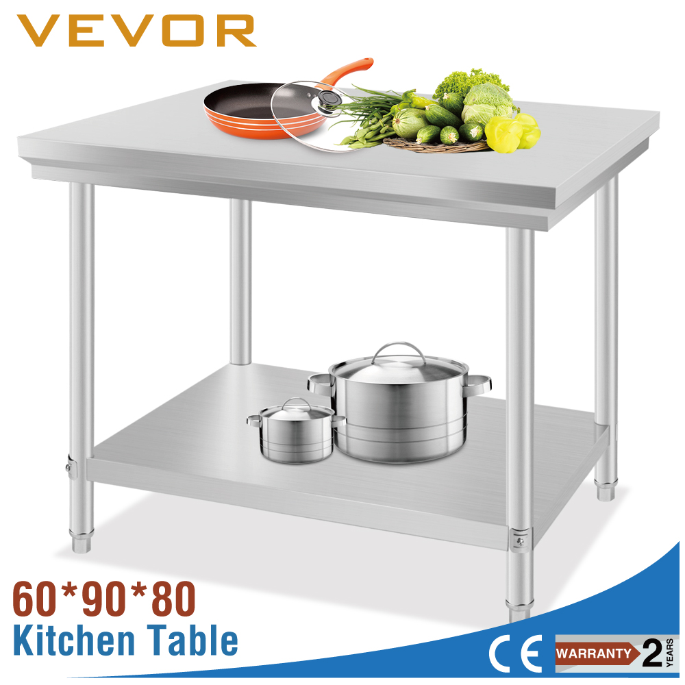 Stainless steel prep table ss dining table images pizza for Beli kitchen set