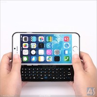 Slim Designed Wireless Portable Sliding out Bluetooth Backlit Keyboard Case For Apple iPhone 6