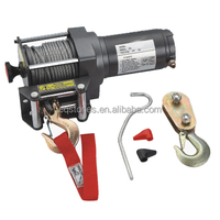 Steel cable pull 2500lbs mini 12v electric winch