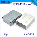 Newest extruded aluminum box heat sink enclosure for electronics