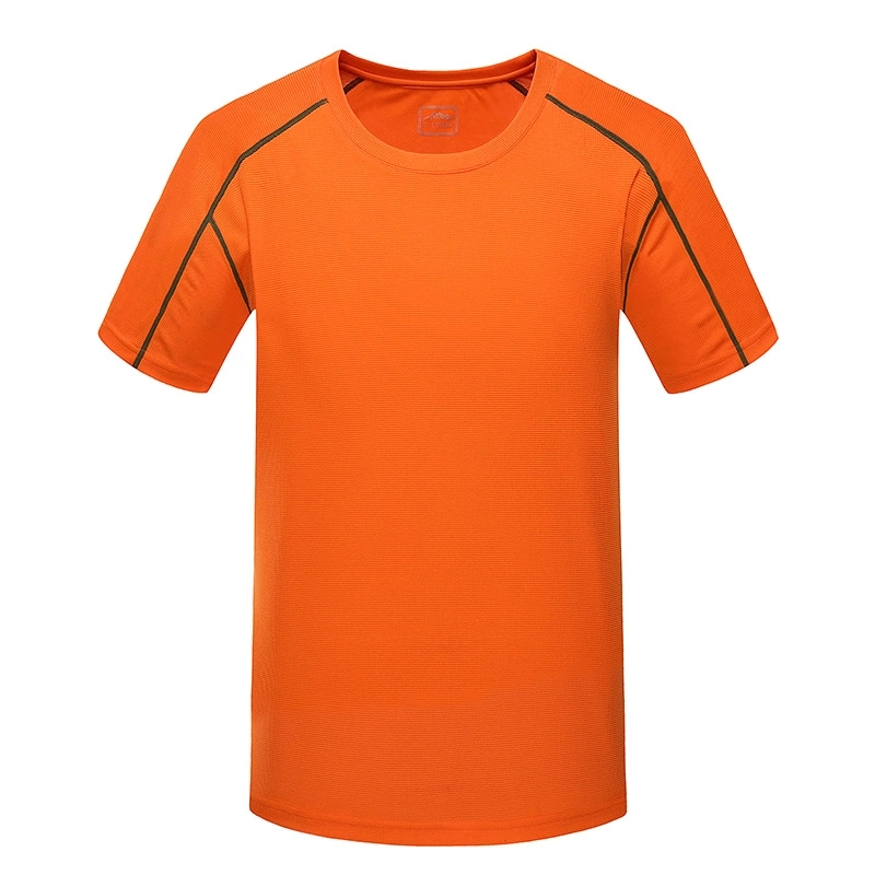 Bulk sale good design fashion style basic blank athletic mens cool dry fit running shirts