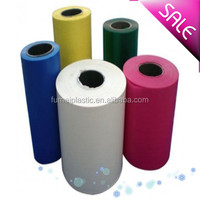 transparent color plastic film on roll