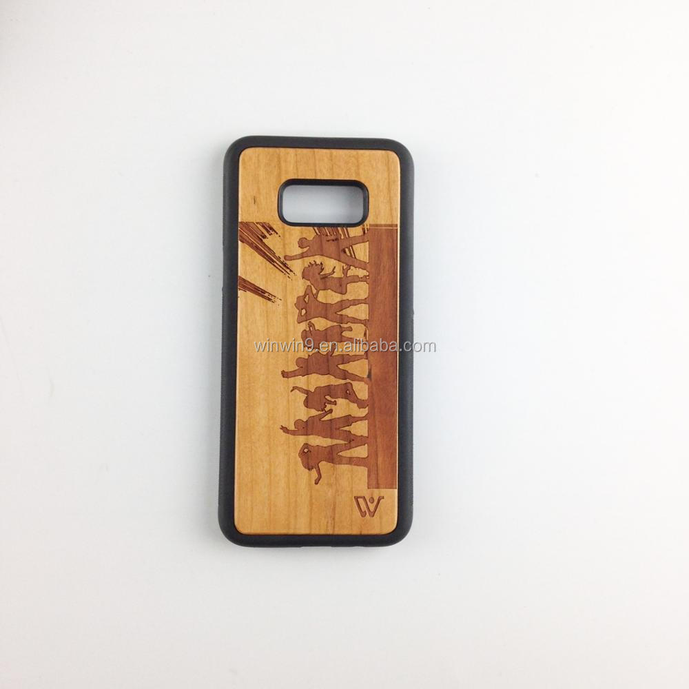 2017 hot selling custom make your design real wood phone case for samsung galaxy 8