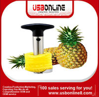 Easy Fruit Pineapple Corer Slicer Peeler Cutter Parer Stainless Kitchen Tool Kit