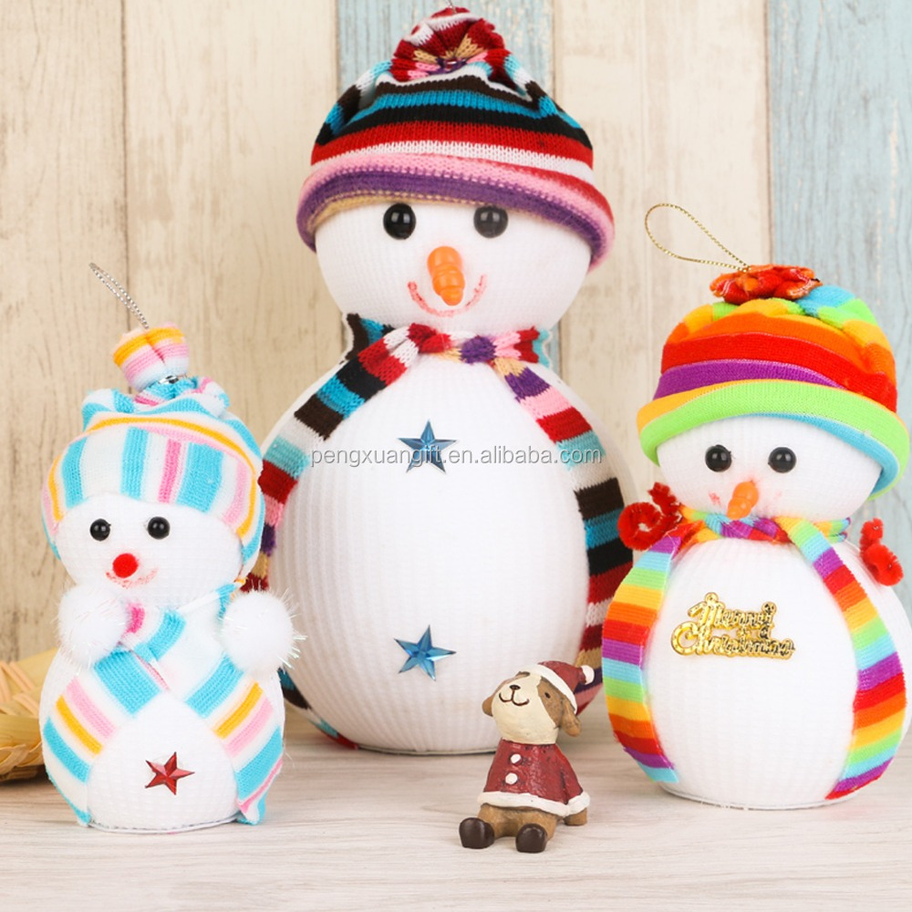 Lovely Snowman! Exclusive Super Cute Christmas Decoration Tree Decorations Snowman Doll Christmas Socks Children's Gift Tiny Toy