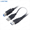 Fashion Micro-USB Dual Male Y Adapter Splitter Cable for mobile phone