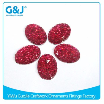 guojie brand High Quality flatback Oval Shape For Ladies Shoes man-made gem Resin Stones