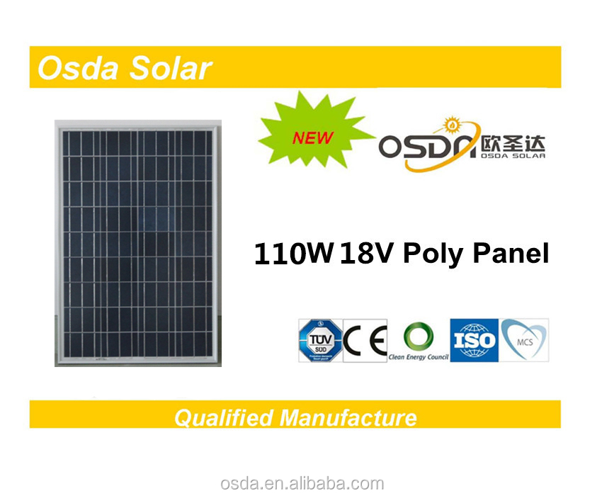 ODA110-18-P 110 Watt Poly Solar Panel with all cerfiticates solar panel china supplier