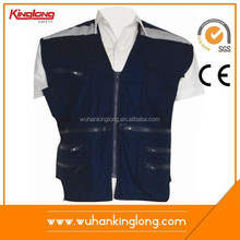 motorcycle reflective fluorescent safety vest blue