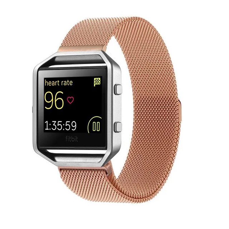 Newest Gold Silver Smart Watch/ Metal Strap Fitbit Watch