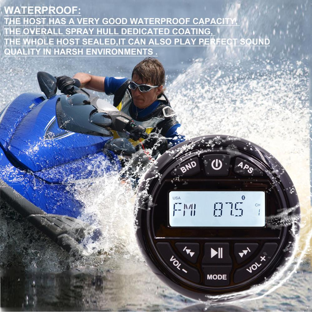 Popular Black color cool H-833 High quality motorboat waterproof mp3 audio system
