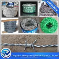 hot dipped stainless galvanized and PVC coated Barbed wire / cheap barbed wire