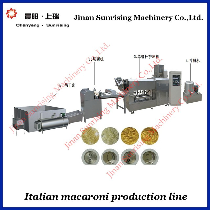 100kg /h pasta and macaroni making machine