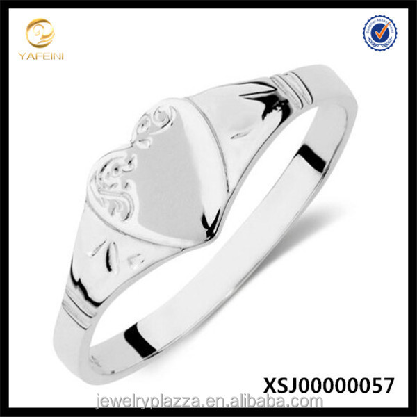 Zirconia Jewelry China Sterling Silver Signet Ring 925 Sun Silver Ring