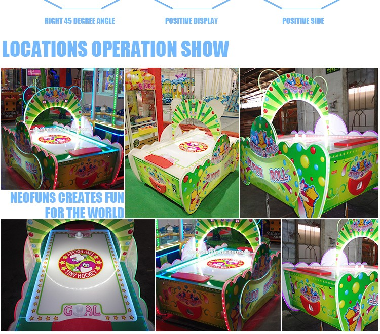 2016 Newest Super Roll Kids Coin Operated Arcade Game Machines/Coin Operated Air Hockey Game Table