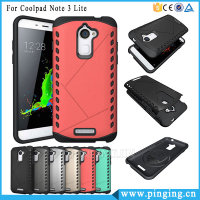 Hard Sheild Combo Armor Back Cover Case For Coolpad Note 3 Lite Wholesale Cell Phone Case