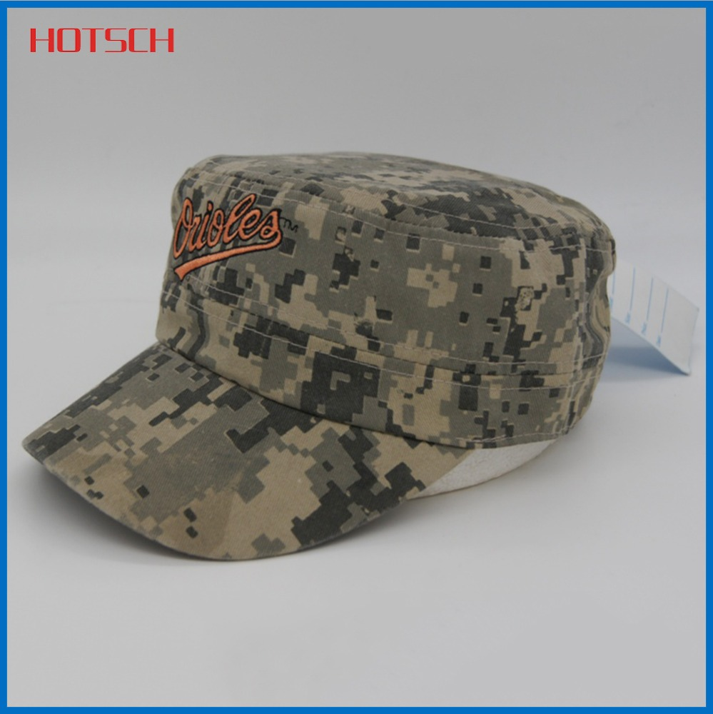 China wholesale high quality embroidered military caps and hats