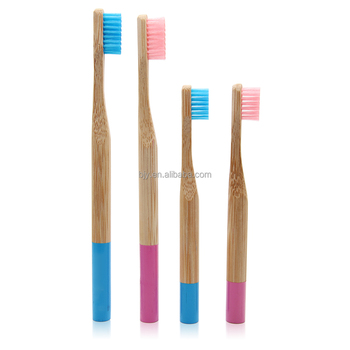 Wholesale Manufacturer Round Bamboo Toothbrush Holder Organic Bristle Handle For Dental Care