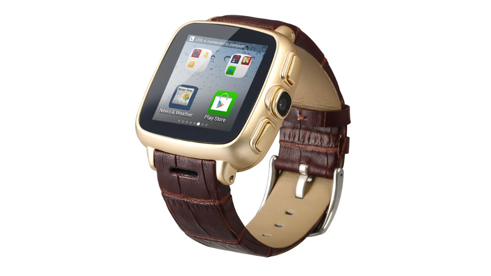 Waterproof IP67 A9 Upgrade Smart Watche Android4.4 Dual Core 5.0 Camera ROM512 4G Wifi 5MP Camera Leather Band
