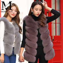 2017 Fashion Wholesale Natural Fox Fur Waistcoat / Custom Women Genuine Real Fox Fur Vest