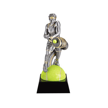 Polyresin extreme motion male tennis trophy